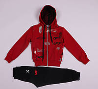 Детский спортивный костюм на/для мальчика красный,OFFWHITE,рост 104,110,116,122,128см,возраст 3,4,5,6,7,8 лет.