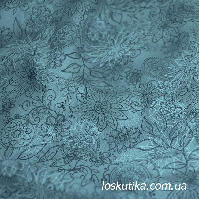 55016 Стильный мотив. Ткань для шитья, руколелия, декора, скрапбукинга, пэчворка.