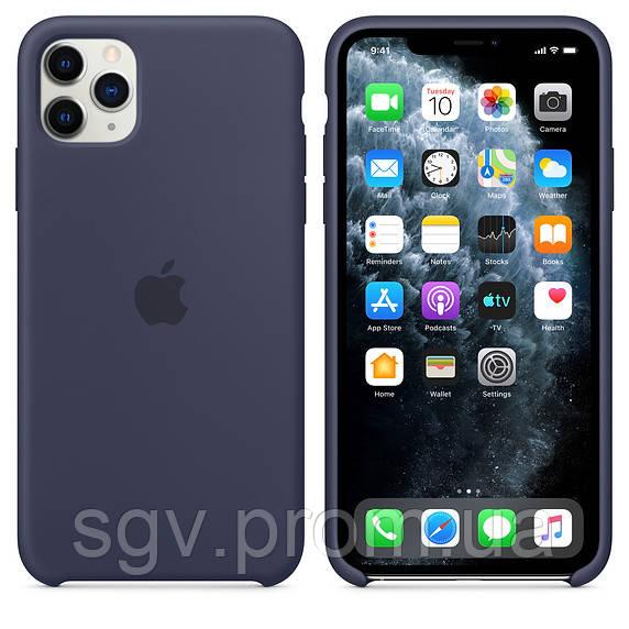 Силиконовый чехол для iPhone 11 Pro / 11 Pro Max, цвет тёмно‑синий