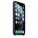 Силиконовый чехол для iPhone 11 Pro / 11 Pro Max, цвет тёмно‑синий, фото 6
