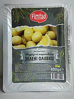 Оливки зеленые с косточкой надрезанные 400 г Fimtad (Турция)