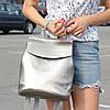 """Женский кожаный рюкзак-сумка(трансформер) """"Анжелика Silver"""""""