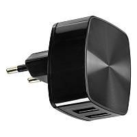 СЗУ сетевой адаптер Remax 2USB 2.4A Black (RP-U215) + USB Cable iPhone 5/6/7/8/10/11