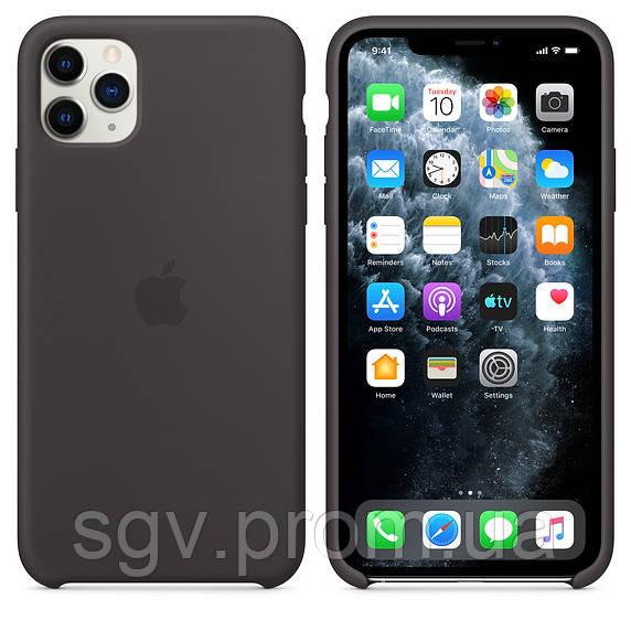 Силиконовый чехол для iPhone 11 Pro / 11 Pro Max, черный цвет