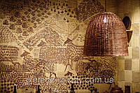 Абажури (світильники) із лози для ресторана під індивідуальне замовлення буль-якої форми.