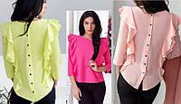Блуза  сзади  пуговицы разные цвета с м л, фото 1