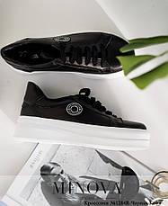 Кроссовки-мокасины женские черные, фото 3