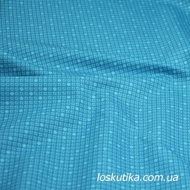 55018 Ткань с геометрическим узорам. Ткани для кукол, пэчворка, трапунто, для художественной стежки.