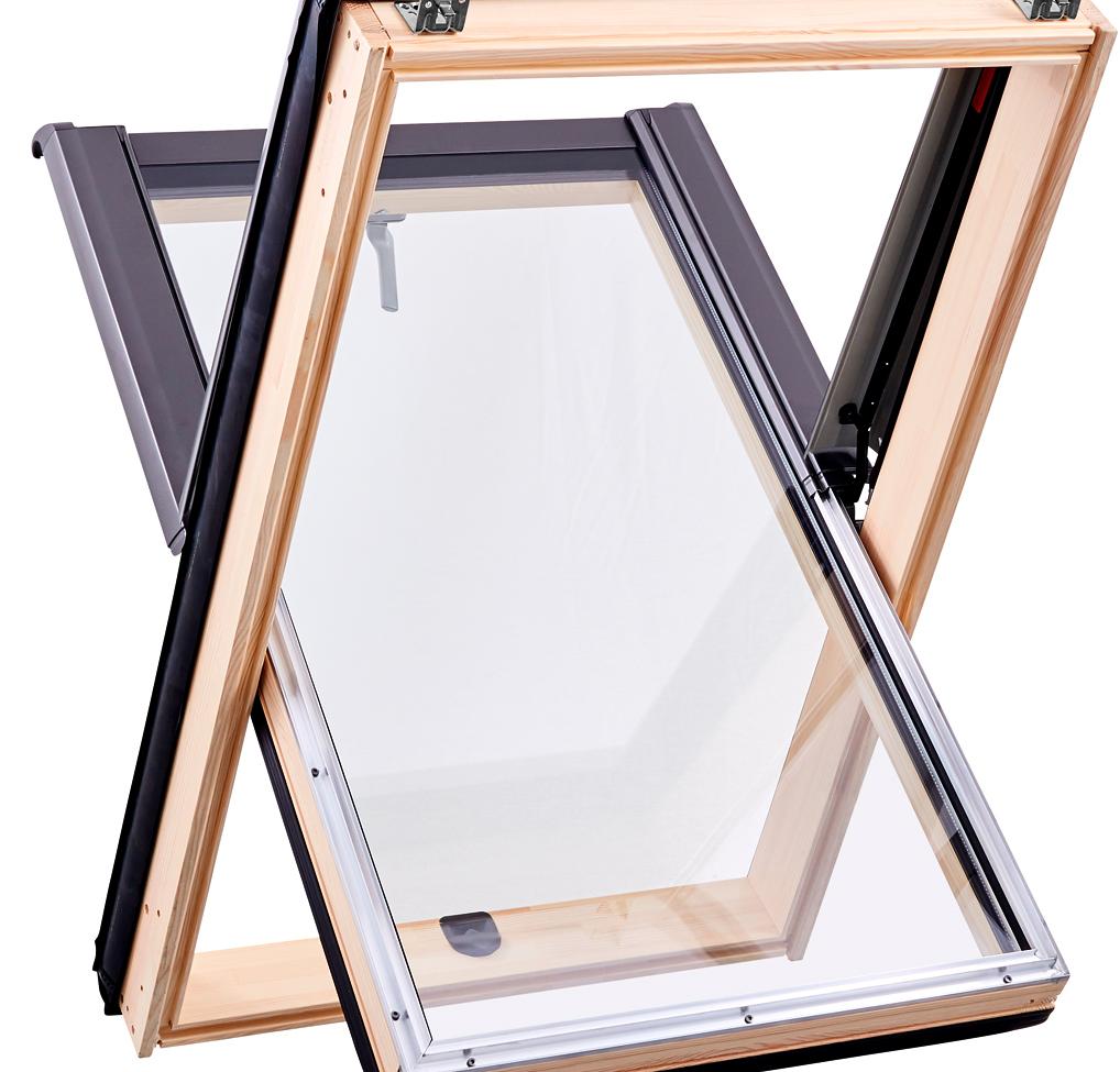 Центрально-поворотне вікно Designo R45 6/11 (з окладом)
