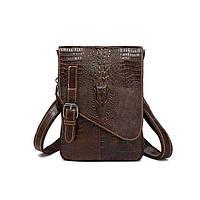 Невелика шкіряна чоловіча сумка на плече Marrant коричнева, фото 1