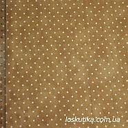 55019 Горошек (коричневый). Ткань в горох. Фоновая ткань., фото 3
