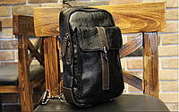 Мужская кожаная сумка. Модель 61249, фото 9