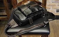 Мужская кожаная сумка. Модель 61249, фото 10