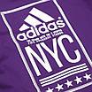 """Футболка спортивная фиолетовый ADIDAS с принтом """"NYC""""  PUR L(Р) 19-900-020, фото 6"""