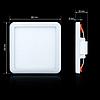 Светильник CL-S9-5 квадратный 5000K 9Вт