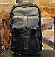 Мужская кожаная сумка. Модель 61249, фото 2