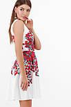 Разноцветные цветы платье Альба б/р, фото 5
