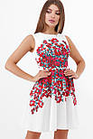 Разноцветные цветы платье Альба б/р, фото 6