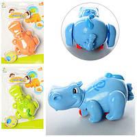 Заводная детская игрушка в ванну и игр на полу Бегемотик, фото 1