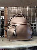 """Женский кожаный рюкзак мини (трансформер)  """"Калисто Bronze"""", фото 1"""