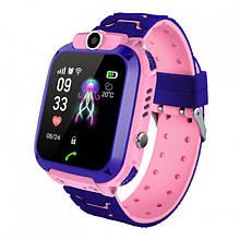 Детские Смарт часы с GPS S12 Розовый (Smart Watch) Умные часы