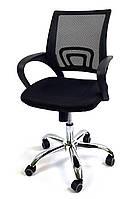 Офисный стул-кресло на колесиках Comfort black компьютерное кресно черного цвета