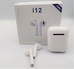 Беспроводные наушники i12 TWS AirPods mini аирподс блютус bluetooth +Power навушники безпровідні і12 сенсорн