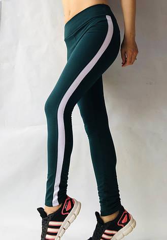 Спортивные леггинсы женские № 54 темно-зеленый, фото 2