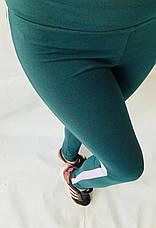 Спортивные леггинсы женские № 54 темно-зеленый, фото 3
