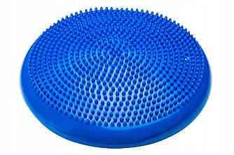 Балансировочная подушка (сенсомоторная) массажная 4FIZJO 4FJ0022 Blue для дома и спортзала синего цвета
