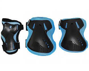 Комплект защитный спортивный SportVida SV-KY0005-M Size M Blue/Black манжеты, налокотники и наколенники