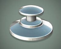 Кнопка IMD, бондируемая, круглая база (1 шт), фото 1