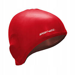 Шапочка для плавания безразмерная SportVida SV-DN0015 Red для 100% силикон красного цвета