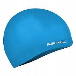 Шапочка для плавания детская безразмерная SportVida SV-DN0019JR Navy 100% силикон синего цвета