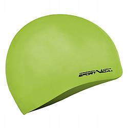 Шапочка для плавания детская безразмерная SportVida SV-DN0019JR Lemon 100% силикон лимонного цвета