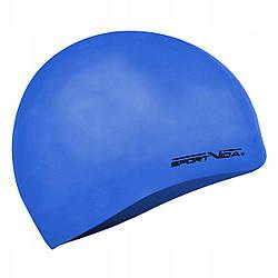 Шапочка для плавания детская безразмерная SportVida SV-DN0019JR Blue 100% силикон синего цвета