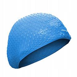 Шапочка для плавания безразмерная SportVida SV-DN0014 Blue 100% силикон синего цвета