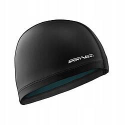 Шапочка для плавания безразмерная SportVida SV-DN0013 Black полиуретановая черного цвета
