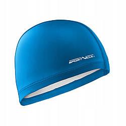 Шапочка для плавания безразмерная SportVida SV-DN0013 Blue полиуретановая синего цвета