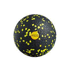 Массажный мяч 8 см 4FIZJO EPP Ball 08 4FJ0056 Black/Yellow для расслабления мышц