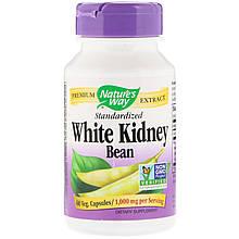 """Белая фасоль Nature's Way """"White Kidney Bean Standardized"""" 1000 мг (60 капсул)"""
