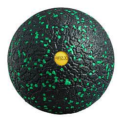 Массажный мяч 12 см 4FIZJO EPP Ball 12 4FJ1264 Black/Green для расслабления мышц