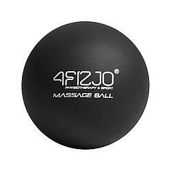 Массажный мяч 6. 25 см 4FIZJO Lacrosse Ball 4FJ1196 Black для расслабления мышц