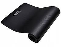 Коврик (мат) для йоги и фитнеса 4FIZJO NBR 1 см 4FJ0015 Black