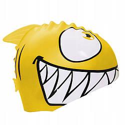 Шапочка для плавания детская безразмерная SportVida SV-DN0017JR Yellow 100% силикон желтого цвета