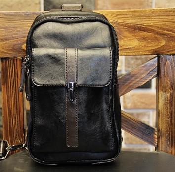 Мужская кожаная сумка. Модель 61249