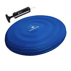 Балансировочная подушка (сенсомоторная) массажная Springos PRO FA0086 Blue для дома и спортзала