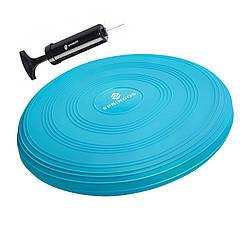 Балансировочная подушка (сенсомоторная) массажная Springos PRO FA0088 Sky Blue для дома и спортзала