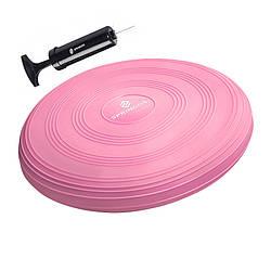 Балансировочная подушка (сенсомоторная) массажная Springos PRO FA0089 Pink для дома и спортзала