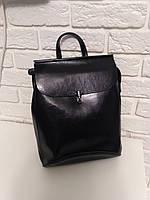 """Женский кожаный рюкзак-сумка(трансформер) """"Кристи Black"""", фото 1"""